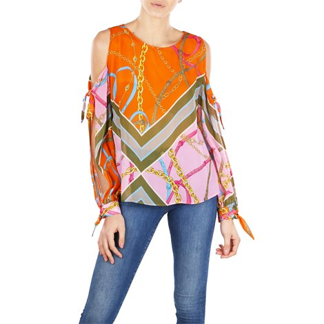 multicolor printed blouse