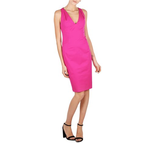 fuchsia stretch cotton dress