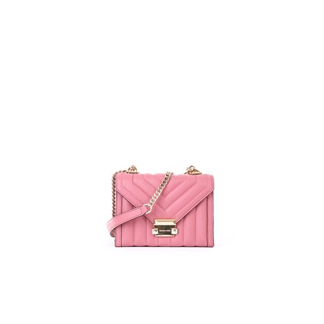pink leather withney crossbody