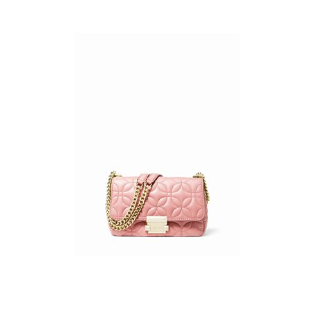 pink quilted leather small sloan shoulder bag