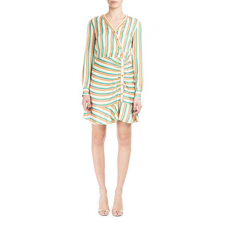 striped viscosa dress