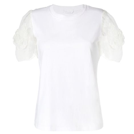 t-shirt bianca in cotone