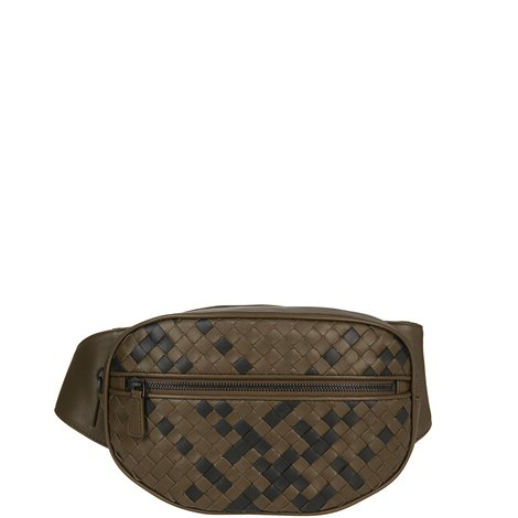 woven leather belt bag