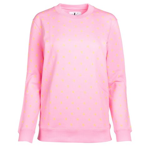 pink spotted effect embroidered sweater