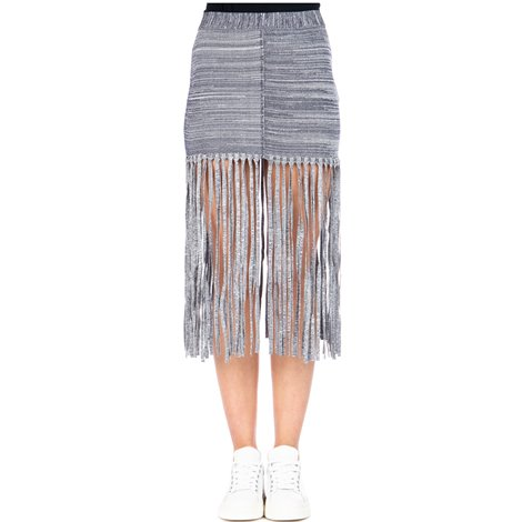 fringed stretch skirt