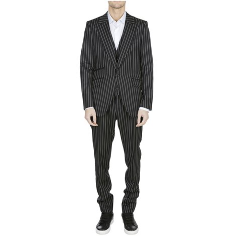 pinstriped wool sicilia suit