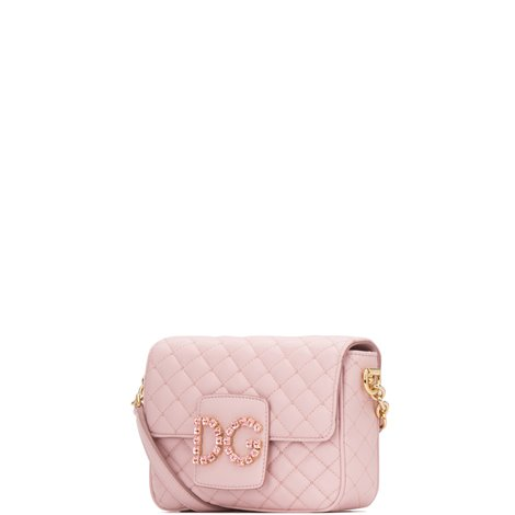 pink quilted nappa leather dg millenials shoulder bag