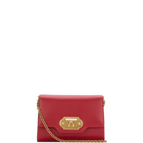 welcome mini bag in red calfskin