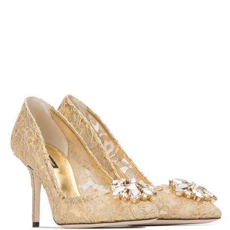 bellucci pumps in taormina lace with jewellery