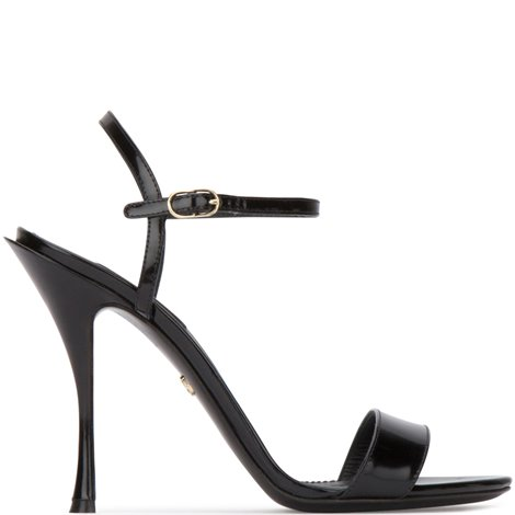 black patent leather keira sandals