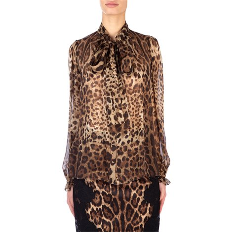 spotted silk blouse