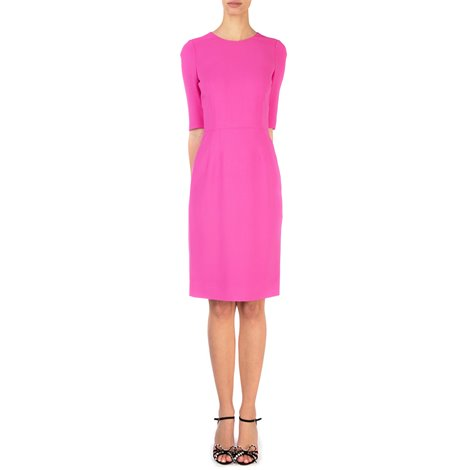 fuchsia viscose sheath dress