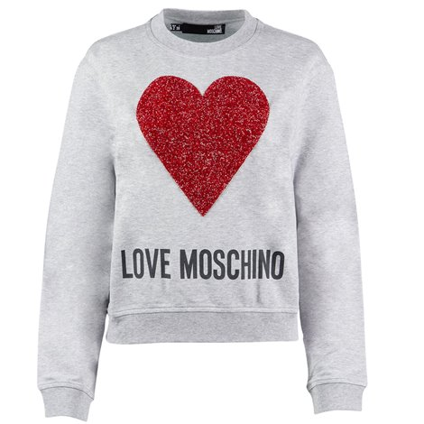 glittered heart crop sweater
