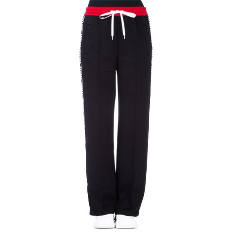 black trousers with red band