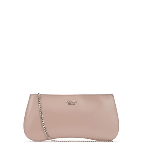 pink leather sidonie clutch