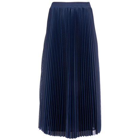blue pleated mesh skirt