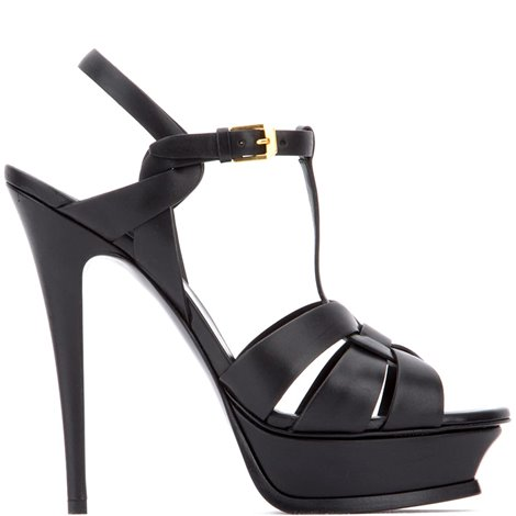 black leather tribute sandals