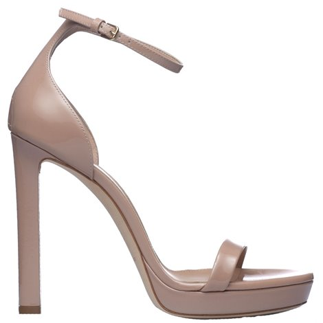 nude patent leather hall sandals