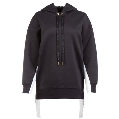 black hooded sweatshirt