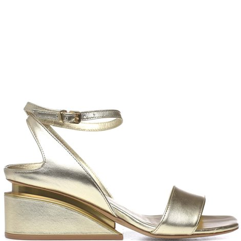 golden leather sandals