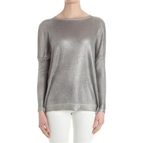 silver cashmere and silk sweater