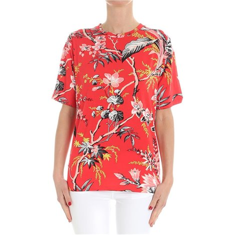 red floral pattern tshirt