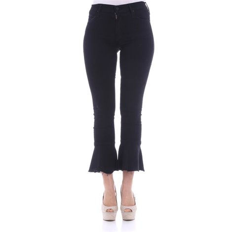 black 5-pocket cotton jeans