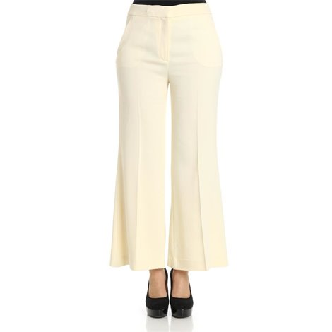 ivory stretch viscose trousers